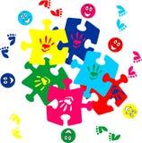 Dzieci łamigłówki kawałki Obraz Royalty Free
