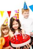 Dzieci świętuje urodziny Fotografia Stock