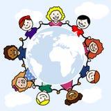 Dzieci świat ilustracji