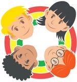 Dzieci świat, różnorodność w harmonii Fotografia Royalty Free