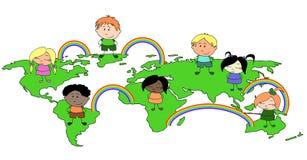dzieci światowi Zdjęcia Stock