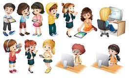 Dzieci royalty ilustracja