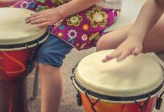 Dzieci Bębni szczegół zdjęcie stock