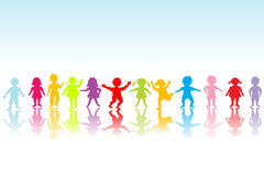 dzieci barwię grupowy bawić się Fotografia Stock