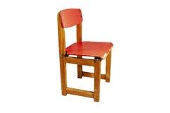 dzieci barwili odosobnionego s stolec rocznika drewnianego Fotografia Stock