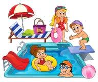 Dzieci basenu tematu wizerunkiem 1 Obraz Royalty Free