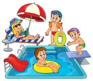 Dzieci basenu tematu wizerunkiem 3 Zdjęcie Royalty Free