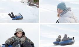 dzieci bawić się śnieg Fotografia Royalty Free