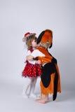 Dzieci bawić się rola na karnawale Obrazy Royalty Free
