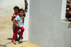 dzieci bawić się ulicę Obrazy Stock