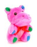 Dzieci bawją się, Miękki misia pluszowego hipopotam Obraz Royalty Free