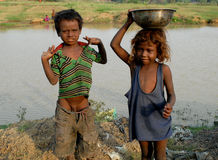 dzieci biedni Zdjęcie Stock