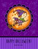 Dziecięca Halloween karta w wektorze Obraz Royalty Free