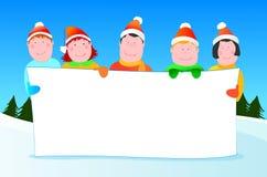 dzieci Claus kapelusze Santa ilustracja wektor