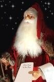 dzieci Claus piszą list s Santa tradycyjny Zdjęcie Stock