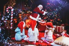 dzieci Claus Santa obraz royalty free