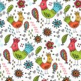 Dziecięcy ptaka wzór Zdjęcie Stock