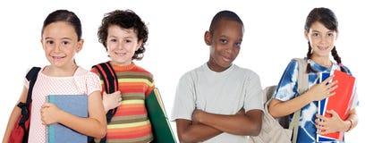 dzieci cztery target665_1_ szkolnego ucznia Zdjęcia Royalty Free