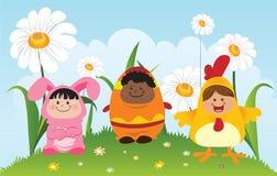 dzieci Easter Obrazy Royalty Free