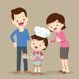 Dzieci gotuje ciastka Obrazy Stock