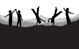 dzieci grass bawić się Fotografia Royalty Free