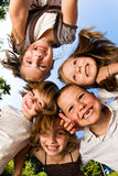 dzieci grupują szczęśliwego Zdjęcie Royalty Free