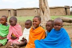 dzieci grupują kenijczyka uroczego Obraz Royalty Free