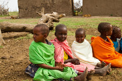dzieci grupują kenijczyka uroczego Zdjęcia Royalty Free
