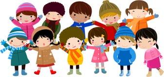 dzieci grupują szczęśliwego Zdjęcia Royalty Free