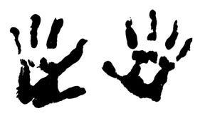 dzieci handprints s Zdjęcie Royalty Free