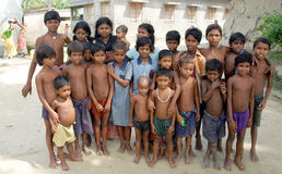 dzieci hindusa wioska Obrazy Royalty Free