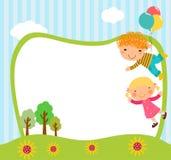 Dzieci i balon Zdjęcia Stock