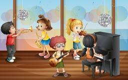 Dzieci i muzyka royalty ilustracja