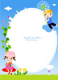 Dzieci i rama Fotografia Stock