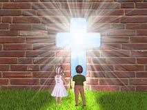 Dzieci i religia ilustracja wektor
