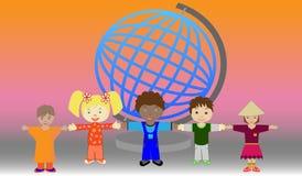 dzieci ilustraci wektoru świat royalty ilustracja