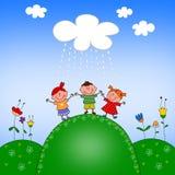 dzieci ilustracyjni Obrazy Stock