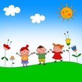 dzieci ilustracyjni Obrazy Royalty Free