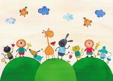 dzieci ilustracyjni Fotografia Stock