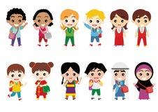 Dzieci, jedność i różnorodność, ilustracja wektor