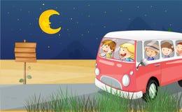 Dzieci jedzie w autobusie Zdjęcie Stock