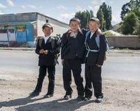 Dzieci Kirgistan Zdjęcia Royalty Free