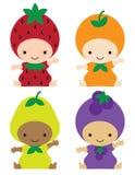 dzieci kostiumów owoc royalty ilustracja