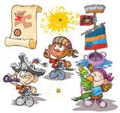 dzieci kostiumów pirat Zdjęcie Royalty Free