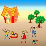 Dzieci które kocha naturę Obrazy Royalty Free