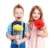 dzieci kwiatów ilustracyjny lato wektor Obraz Royalty Free