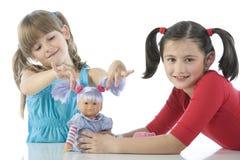 dzieci lal faworyt ich dwa Fotografia Stock
