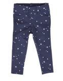 Dzieci leggings spodnia odizolowywający na bielu Obraz Stock
