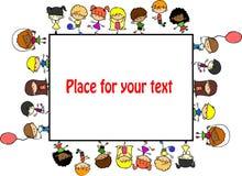 dzieci śliczna projekta rama twój ilustracji