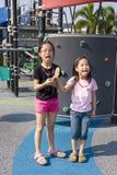dzieci lizaka boisko Obrazy Royalty Free